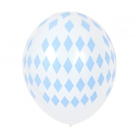 Balloner med lyseblå ruder mønster fra My Little Day