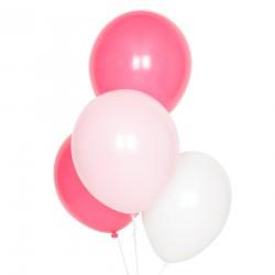 Blandede lyserøde balloner