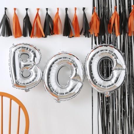 Sølv Boo Ballon Guirlande fra GingerRay
