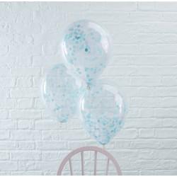 Blå konfetti balloner