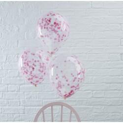 Lyserøde konfetti balloner