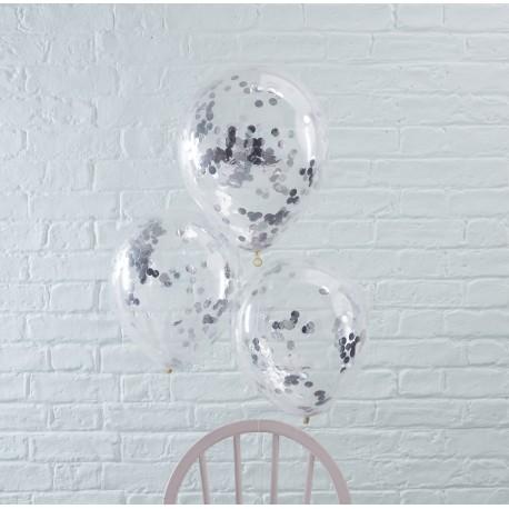 Sølv Konfetti Balloner fra GingerRay