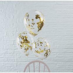 Guld Konfetti Ballon fra GingerRay