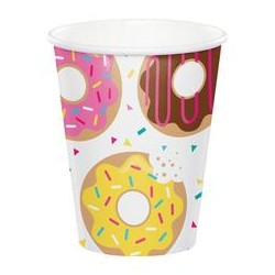 8 Donut papkrus til doughnut Fest