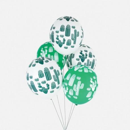 Balloner med kaktus print fra My Little Day