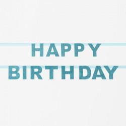 Lyserød glitter happy birthday guirlande