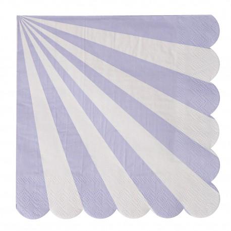 Lavendel stribede servietter