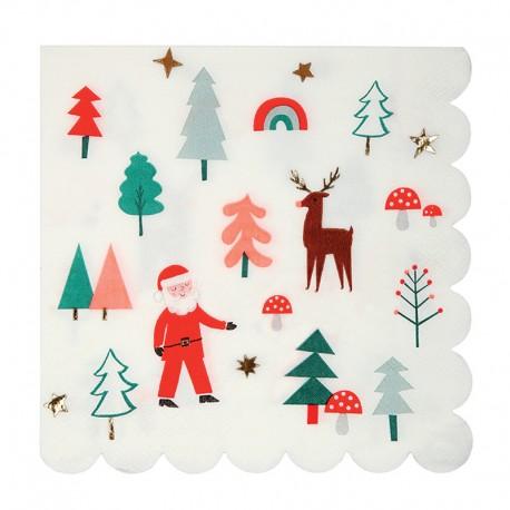 Jule Servietter med julelandskab fra Meri Meri