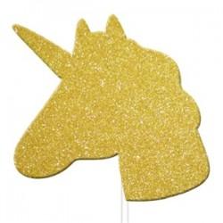 Enhjørning Guld Glimmer caketopper