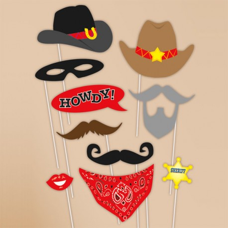 Western Cowboy Photo Booth Props
