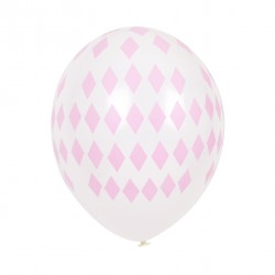 Balloner med lyserøde ruder mønster