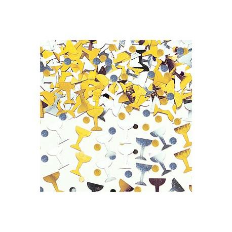 Champagne sølv og guld konfetti