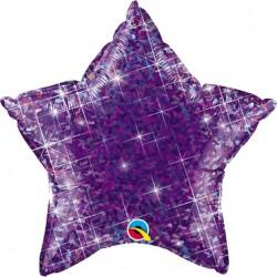 Lilla Glimmer Stjerne Folie Ballon til Helium