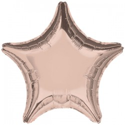 Rose Gold Stjerne Folie Ballon til Helium