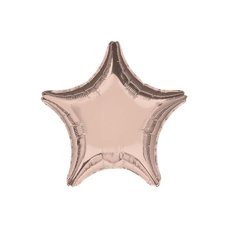 Rose Gold Stjerne Ballon til Helium