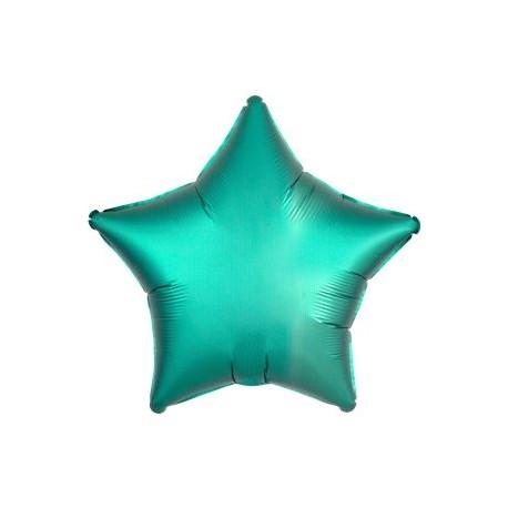Smaragd Grøn Satin Stjerne Folie Ballon til Helium