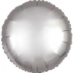 Sølv Satin Folie Ballon til Helium