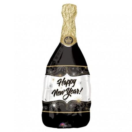 Nytårs Champagneflaske Ballon