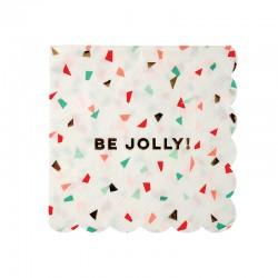 Be Jolly kaffeservietter med julekonfetti fra Meri Meri