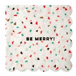 Be Merry Servietter med julekonfetti fra Meri Meri