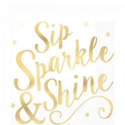 "Cheers to You - ""Sip, Sparkle & Shine"" Servietter"