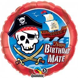 Sørøver fødselsdagsballon til sørøver fest. Gå planken ud med stil