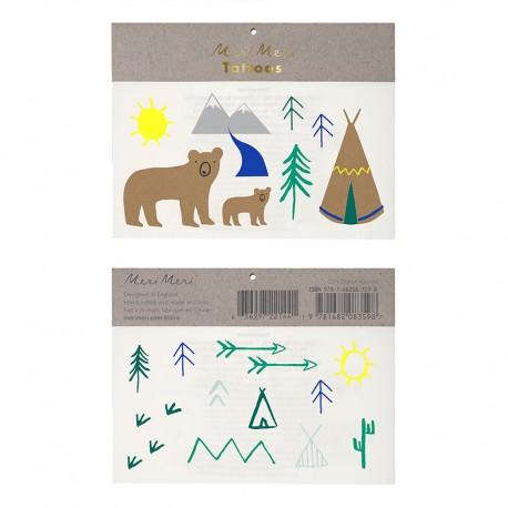 Forest Animals tattoo sæt fra Meri Meri