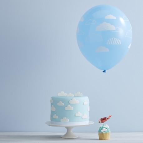 Blå sky balloner