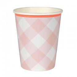 Lyserød ternet kopper fra Meri Meri
