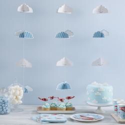 Sky Guirlande i blå og hvide farver fra Gingerray