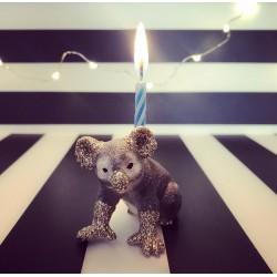 Koala lysholder og caketopper til fødselsdagskage