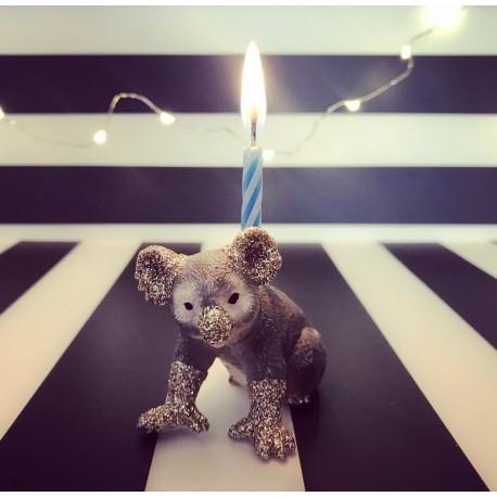 Koala lysholder og kage topper til fødselsdagskage