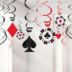 Casino Hængende guirlande dekoration - 60cm