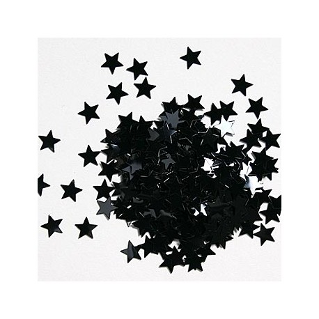 Sorte Stjerne Konfetti