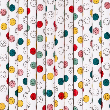 Smiley Emoji Sugerør fra Franske My Little Day