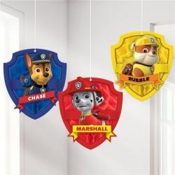 Paw Patrol Honeycomb hænge dekoration