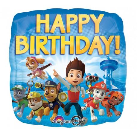 Paw Patrol Happy Birthday Ballon