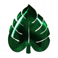Palme Blad Tallerken i Grøn Folie fra Meri Meri