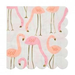 Flamingo Servietter med Guld Tryk fra Meri Meri