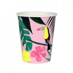 Pink Tropical Servietter fra Meri Meri