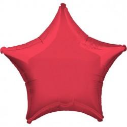 Rød Folie Stjerne Ballon til Helium