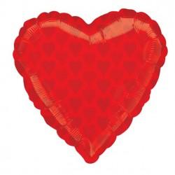 Rød Hjerter Folie Ballon til Helium