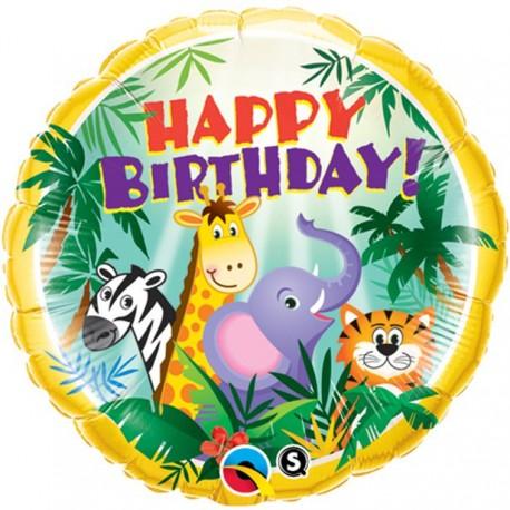 Jungle fødselsdagsballon i folie
