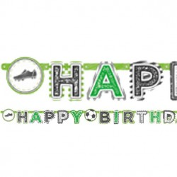 Happy Birthday Fodbold Guirlande