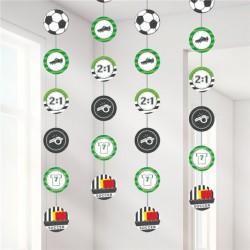 Fodbold spiral guirlande