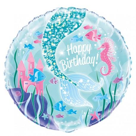 Magisk Havfrue Happy Birthday Ballon