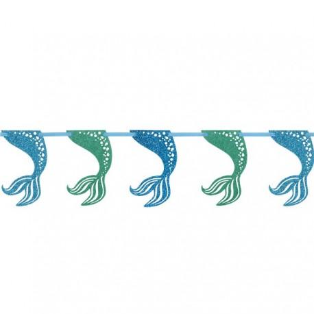 Havfrue hale guirlande med masser af glimmer