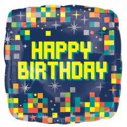 Happy Birthday Pixel ballon