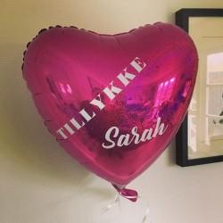 Design din egen hjerte folie ballon
