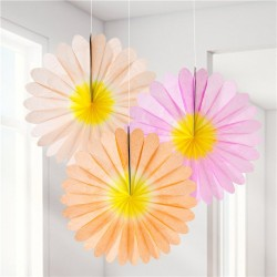 Pastel Blomster Vifter